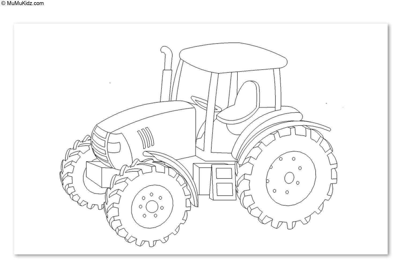 Traktor Ausmalbilder  23 Beste Traktor Malvorlagen Kostenlos zum