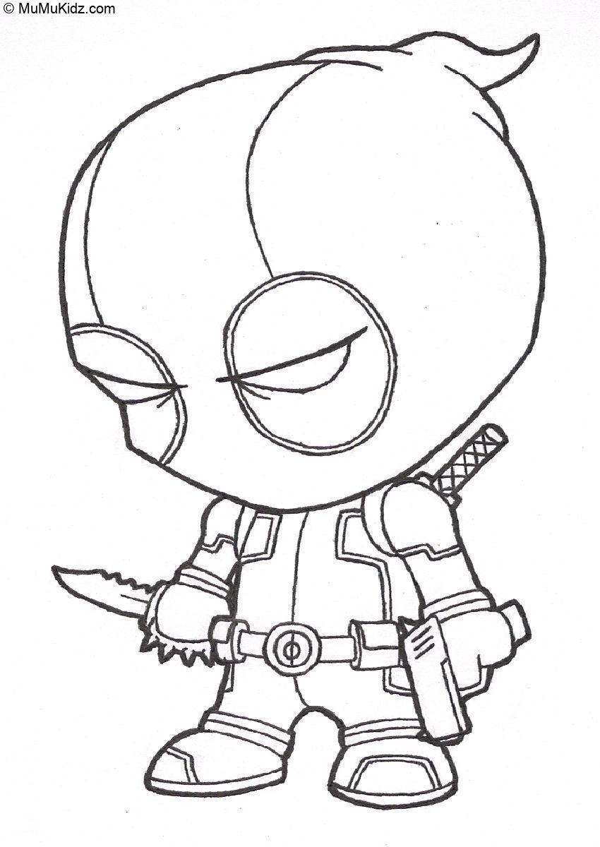 Deadpool Ausmalbilder  18 Beste Deadpool Malvorlagen Kostenlos zum