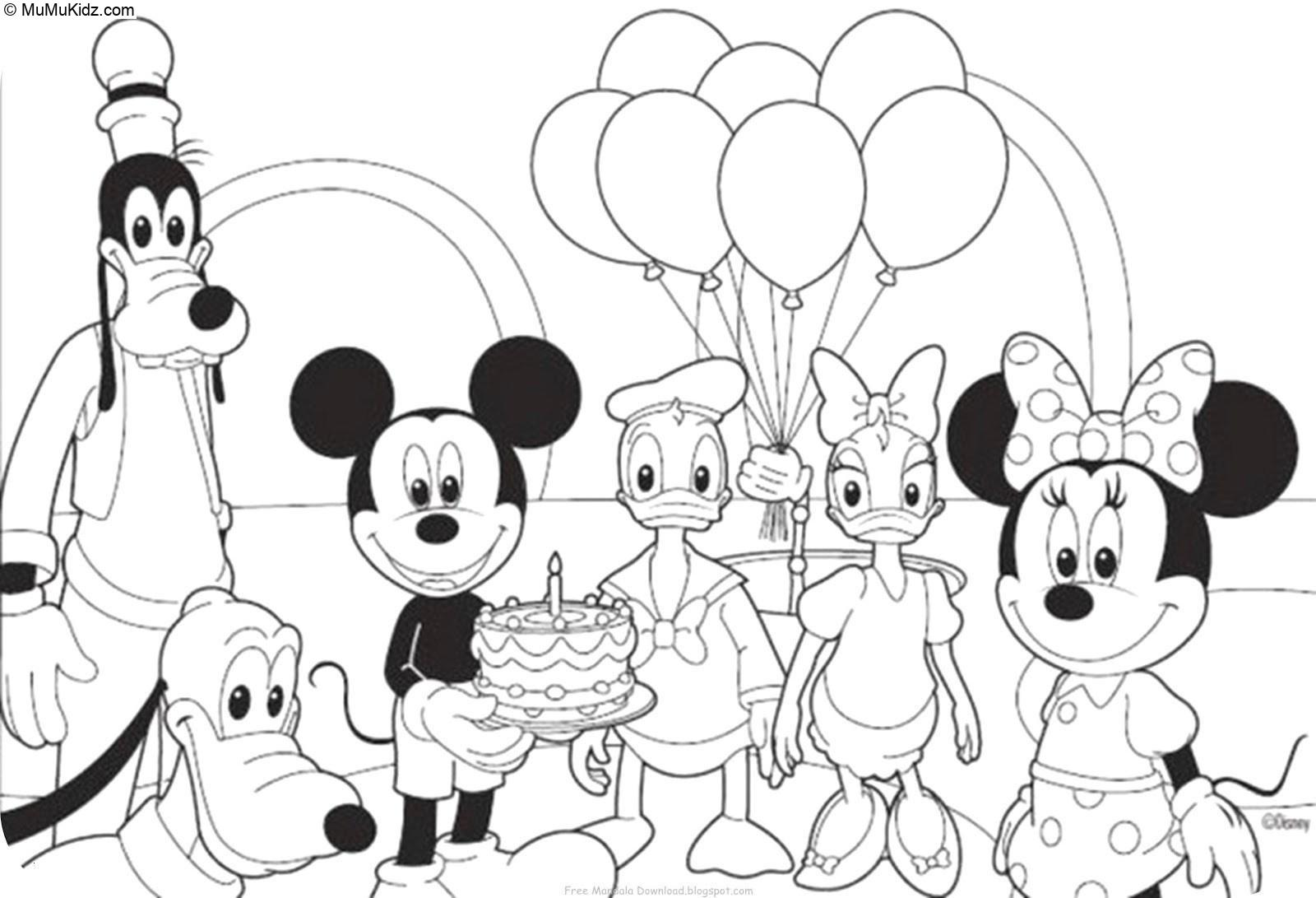 Mickey Mouse Ausmalbilder  9 Beste Mickey Mouse Malvorlagen