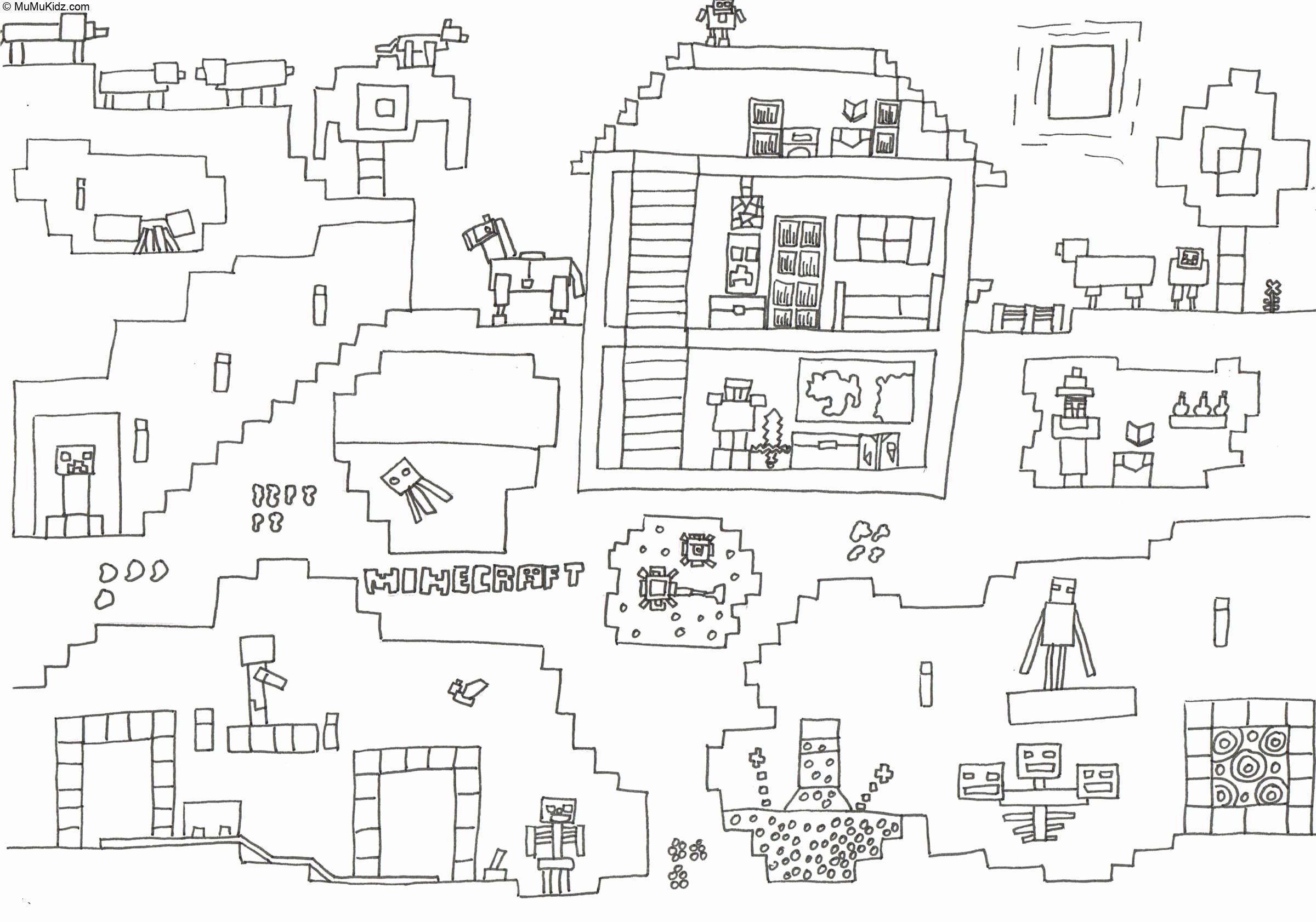 Minecraft Ausmalbilder  27 Beste Minecraft Malvorlagen Kostenlos