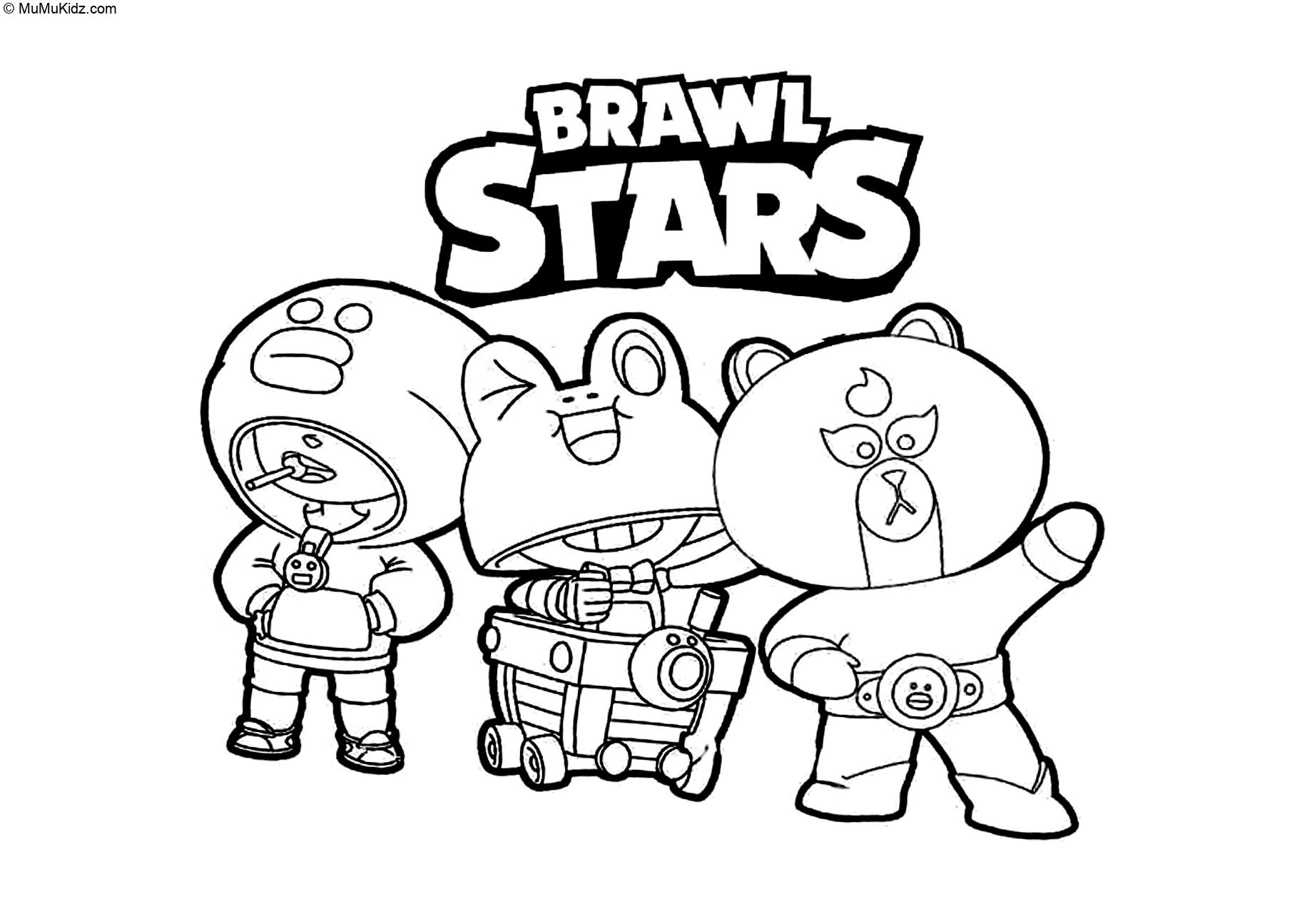 Brawl Stars Ausmalbilder  26 Beste Brawl Stars Malvorlagen