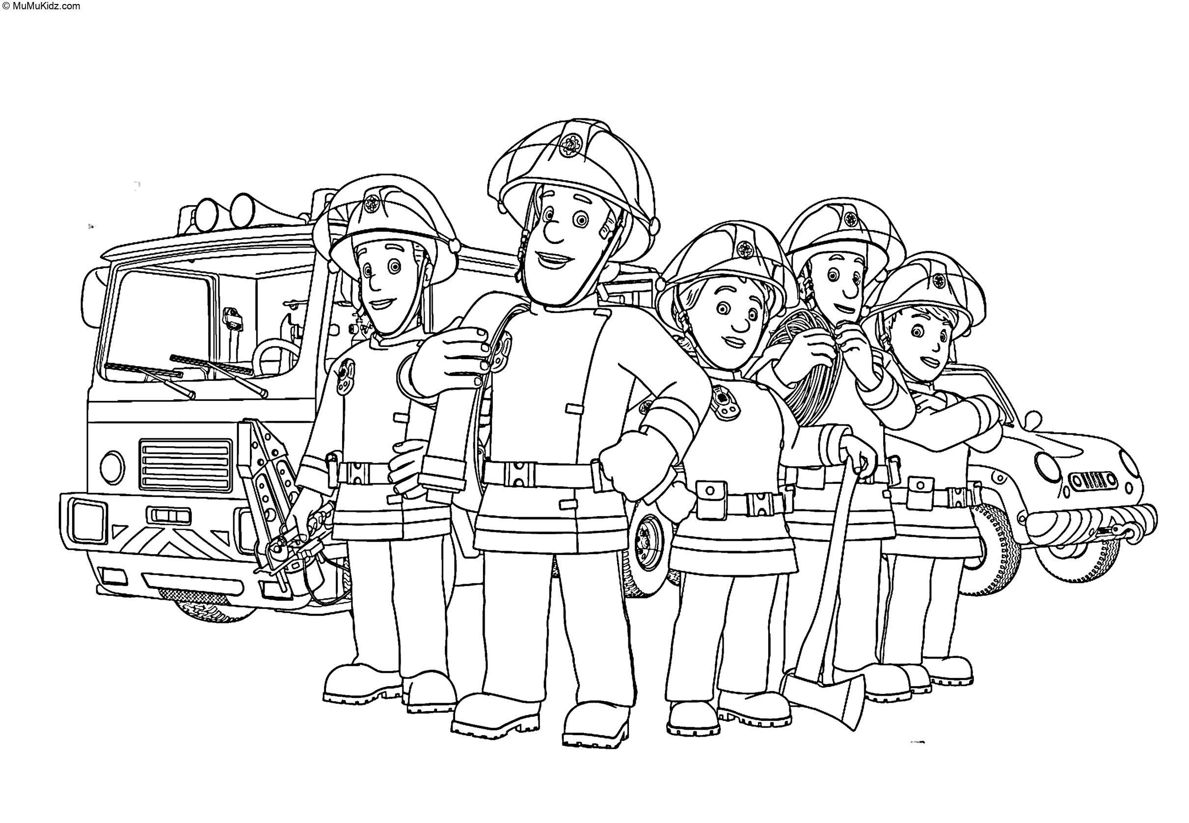 Feuerwehrmann Sam Ausmalbilder  6 Beste Feuerwehrmann Sam